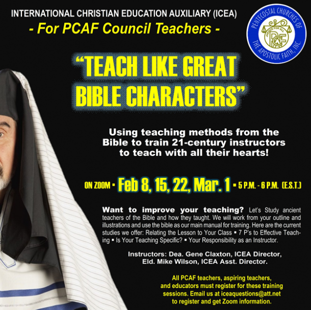 PCAF - International Christian Education Auxiliary Flyer